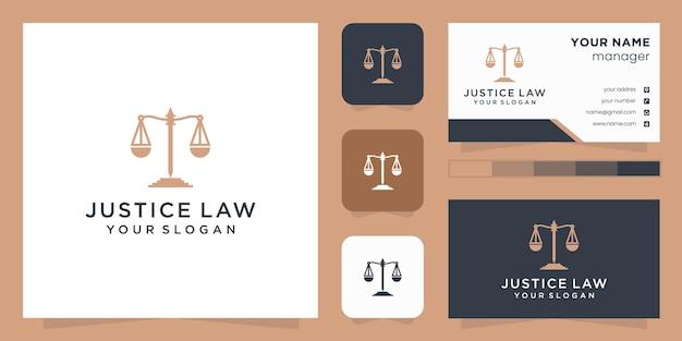 Logo-design für das justizgesetz Premium Vektoren