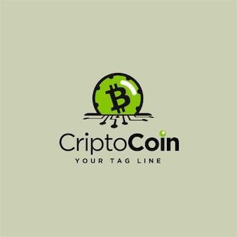 Logo-design für digitale münzen