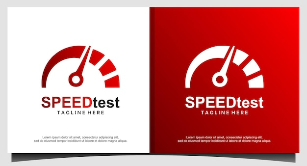 Logo-design für geschwindigkeitstest
