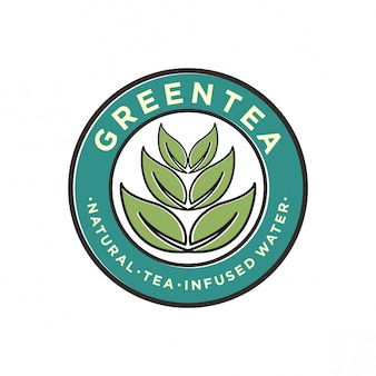 Logo-design für grünen tee