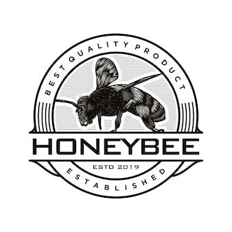 Logo-design für honigprodukte oder honigbienenfarmen