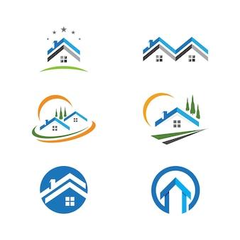 Logo-design für immobilien, immobilien und bau