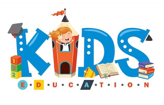 Logo-design für kindererziehung