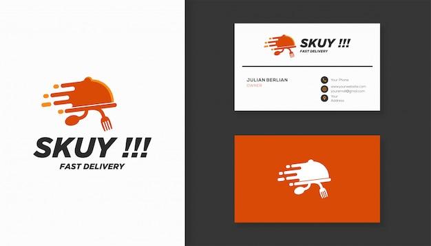 Logo-design für lebensmittellieferungen.
