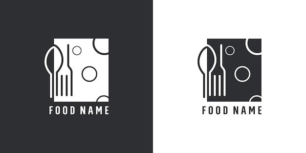 Logo-design für restaurantbesteck