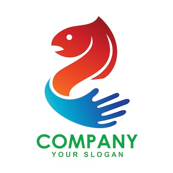 Logo design illustration fisch