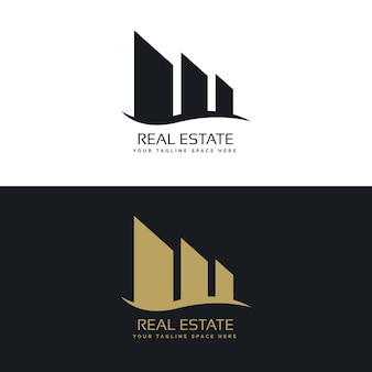 Logo-design-konzept für immobiliengeschäft