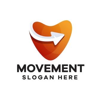Logo-design mit bewegungsverlauf