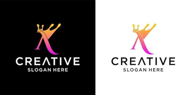 Logo-design mit buchstabenkrone