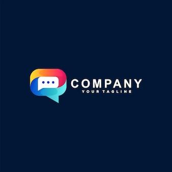 Logo-design mit chat-blasenverlauf