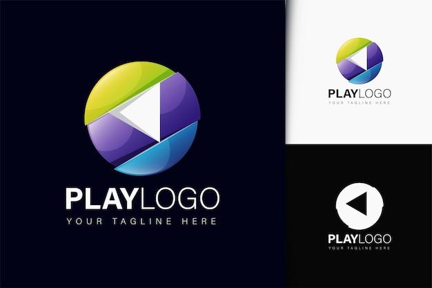 Logo-design mit farbverlauf abspielen