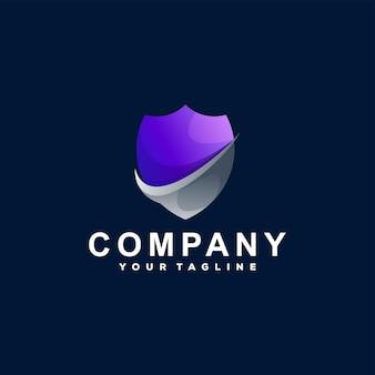 Logo-design mit farbverlauf des schildes