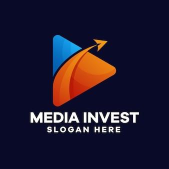 Logo-design mit farbverlauf spielen