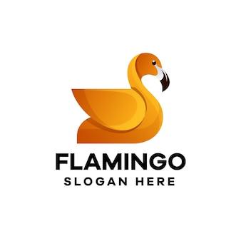 Logo-design mit flamingo-verlauf