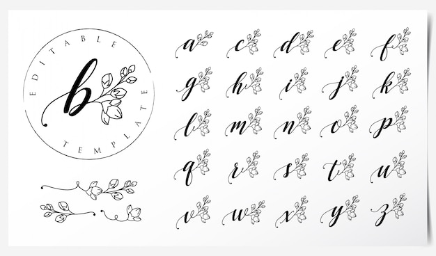 Logo-design mit orchideenblumenelementen