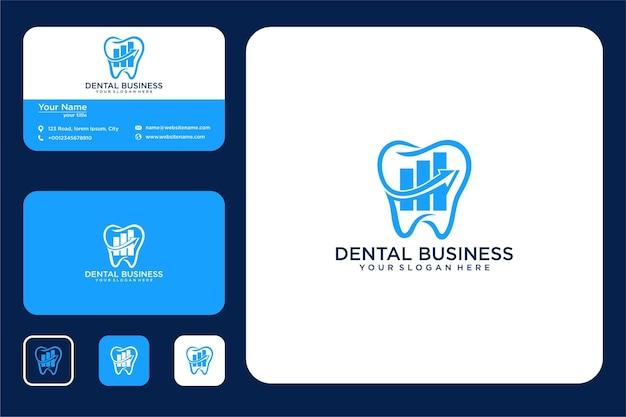 Logo-design und visitenkarte des dentalunternehmens