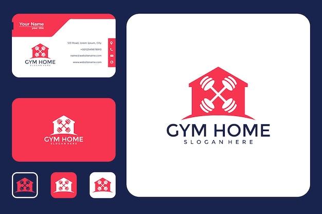 Logo-design und visitenkarte des fitnessstudios