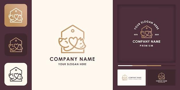 Logo-design und visitenkarte des zoogeschäfts