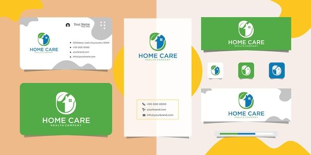 Logo-design und visitenkarte für die pflanzenpflege zu hause