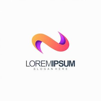 Logo-design-vektorillustration des buchstaben n
