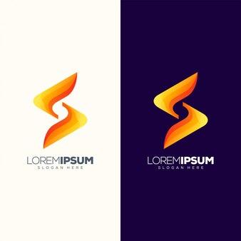 Logo-design-vektorillustration des buchstaben s gebrauchsfertig