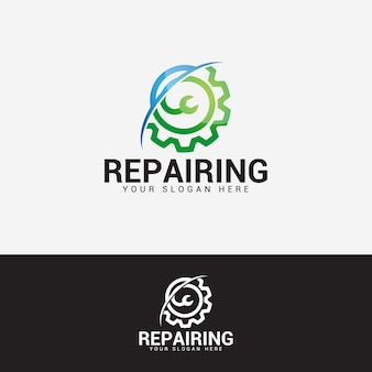 Logo-design-vektorvorlage reparieren