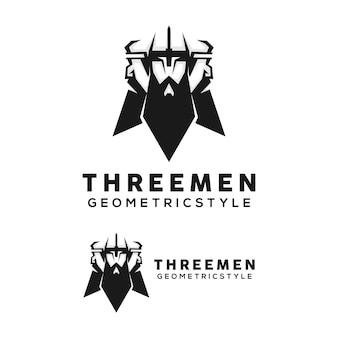 Logo-design-vorlage für bärtigen mann
