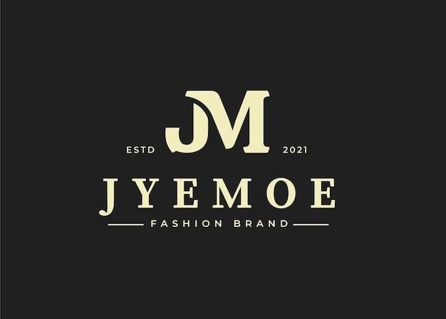 Logo-design-vorlage für den anfangsbuchstaben jm, vektorillustrationen