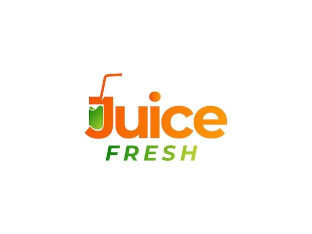 Logo-designkonzept für frischen saft
