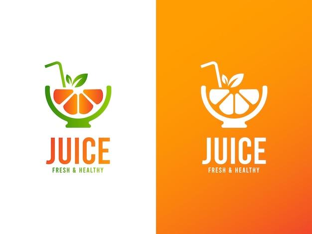 Logo-designkonzept für saftgetränke