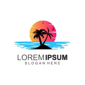 Logo-designs farbe sonnenuntergang