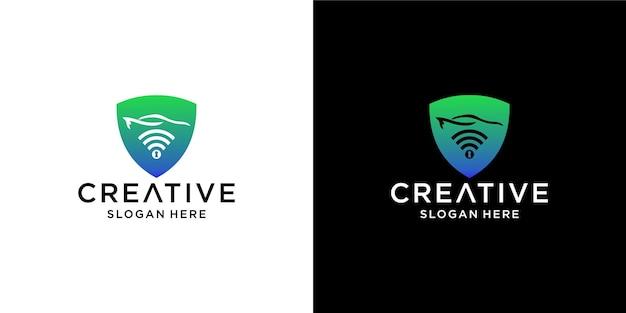 Logo-designs für alarmwagen und schloss