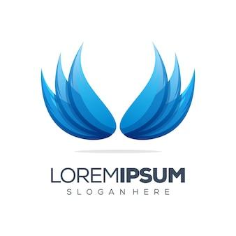 Logo-designschablone des schönen flügels
