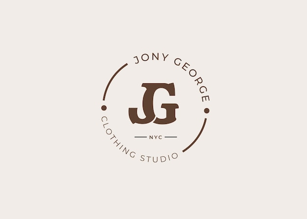 Logo-designvorlage für anfangsbuchstaben, vintage-stil, vektorillustrationen