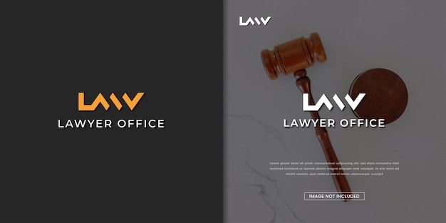Logo-designvorlage für anwaltskanzlei