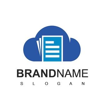 Logo-designvorlage für cloud-dokumente