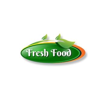Logo-designvorlage für etiketten für frische lebensmittel