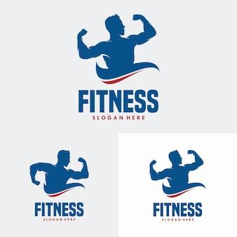 Logo-designvorlage für fitnessstudios