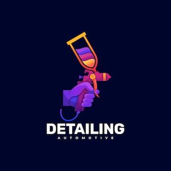 Logo detaillierung farbverlauf bunter stil.