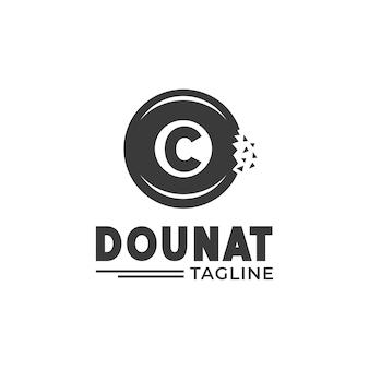 Logo-donut mit innenbuchstabe c