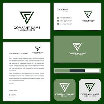 Logo dreieck brief lebenslauf und visitenkarte