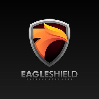 Logo eagle shield farbverlauf bunter stil.