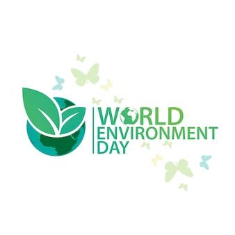 Logo-entwurfsvorlage des weltumwelttags
