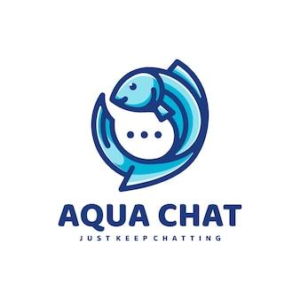 Logo fisch einfacher maskottchen-stil.