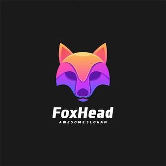 Logo fox head gradient bunt