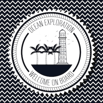 Logo für die erforschung des ozeans