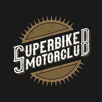 Logo für die motorradgemeinschaft oder motorradwerkstatt