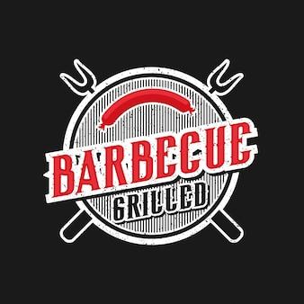 Logo für ein grillrestaurant im vintage-stil
