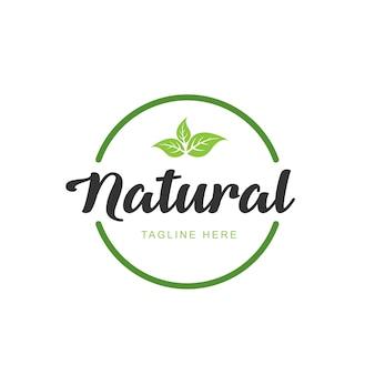 Logo für gesunde lebensmittel von bester qualität. premium-qualität, vegan, grünes leben, bio-produkte. designvorlage