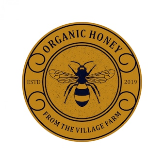Logo für honigprodukte oder honigbienenfarmen